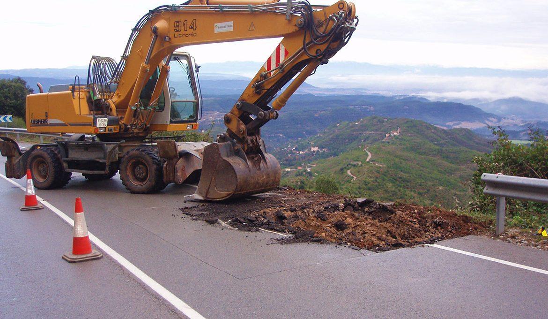 Reparació d'asfalt